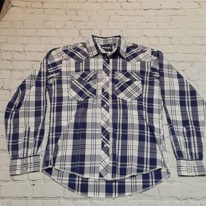 Wrangler Youth Pearl Snap Western Shirt XL 14-16